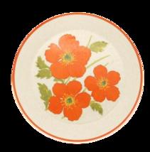 """Temper-ware by Lenox Orange design FIRE FLOWER 10 3/8"""" Dinner Plate Vtg USA - $9.00"""