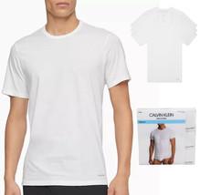 Calvin Klein Men's Casual White Crew Neck Classic Logo Tee Shirts 3-Pack
