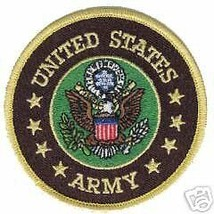 ARMY UNITED STATES ROUND BIKER VEST JACKET EMBROIDERED CLOTH PATCH - $16.14
