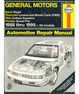 Haynes Manual 38010 GM Buick Regal Chevy Lumina Monte Olds Pontiac Grand... - $12.00