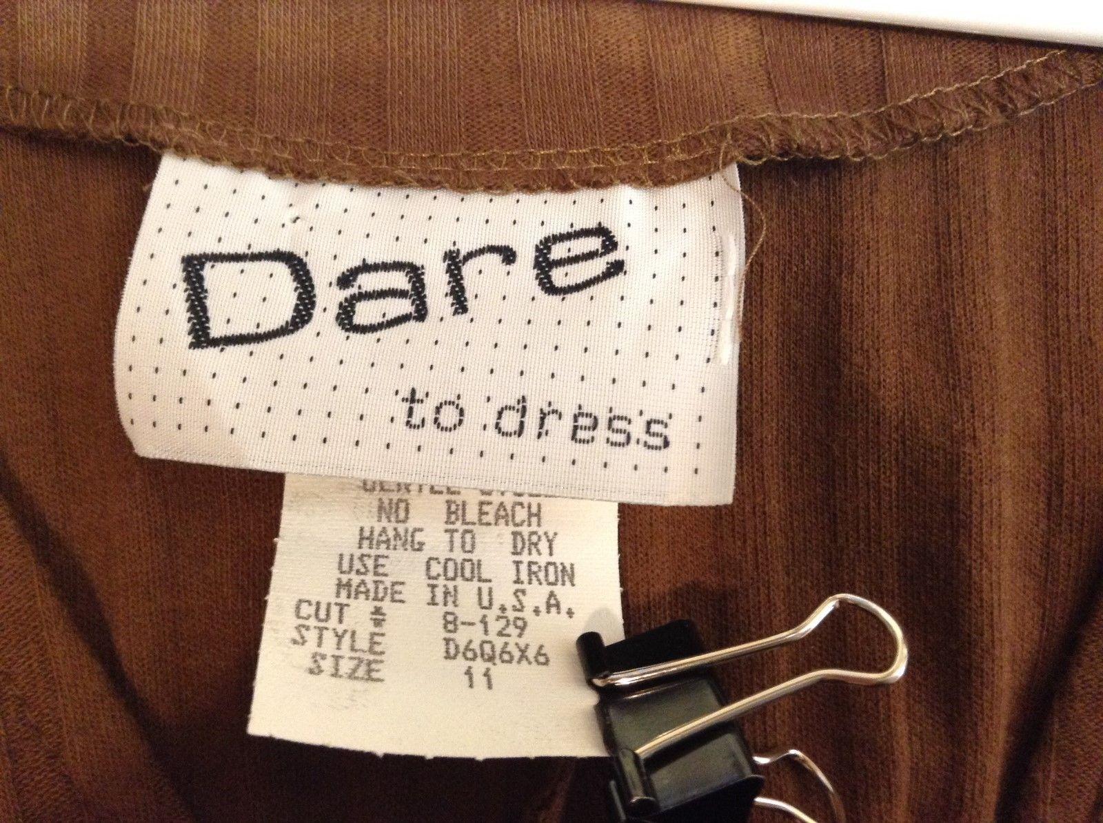 Dare To Dress Long Brown Sleeveless Dress Sz 11