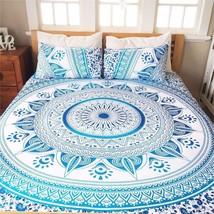 Indian Mandala Tapestry Hippie Wall Hanging Peacock Bohemian Bedspread D... - $16.41