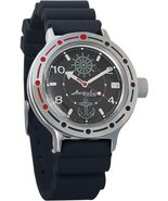 Vostok Amphibian 420526 / 2416 Military Russian Diver Watch Navy Black  - $73.40