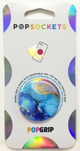 PopSockets Phone & Tablet Grip Opalescent Blue PopGrip With Swappable Top NEW