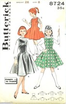 Butterick Sewing Pattern 8724 Girls Jumper & Blouse Size 8/26 1950s Comp... - $5.50