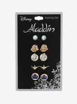 Disney Aladdin 5 Pair Earrings Set! Lamp, Genie, Agrabah, Palace - $16.99