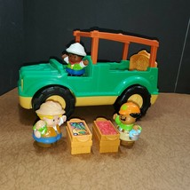 Fisher Price Little People Zoo Jungle Safari Food Truck Animal Sounds 6 Pieces - $27.50
