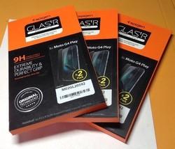 Lot Of 3 Spigen Moto G4 Tempered Glass Screen protector (2 Pack) - $17.81