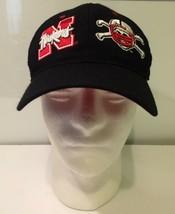 Nebraska Huskers Zephyr Hat Fitted Black Cap Size 7 1/4 NCAA - $9.89