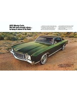1972 CHEVY MONTE CARLO AD POSTER 24 X 36 INCH SWEET! - $19.94