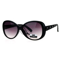 CG Eyewear Womens Sunglasses Round Oval Quilted Look Rhinestones Design - $10.95