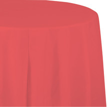 Touch of Color 82 inch Octy Tissue Tablecover Poly Backing Coral/Case of 12 - ₨3,830.47 INR