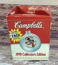 Vintage Campbells 1998 Collectors Edition Plastic Ornament Original Box - $12.99