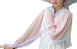 Soft Long Chiffon Scarf Wrap Shawl/Cloak For Girls, Pink