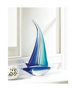 Sail Boat Art Glass Statue  - $59.95