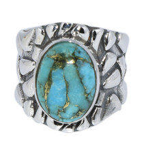 New Turquoise Antique Vintage Looking 925 Silver Ring Jewelry Sz 6 SHRI0149 - £20.29 GBP