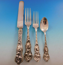 Lily by Watson Sterling Silver Flatware Set Service 24 pieces No mono Di... - $2,150.00