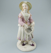 Minton ? English painted Parian : A very fine painted parian Figure - C.... - $129.64
