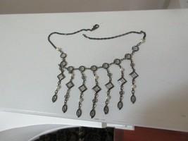 """Ladies Necklace , Unique , Glass / Metal /Faux Pearls , 16"""" Long , Vintage - $94.05"""