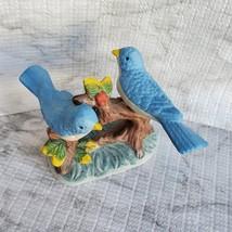 Vintage Bluebird Figurine, Handcrafted in Taiwan, Blue Bird Porcelain Statue image 2