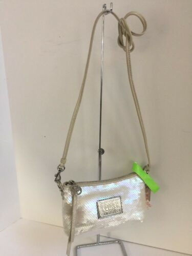 Coach Crossbody Bag Sweetheart Disco Sequin Poppy White Opalescent  44925  B01
