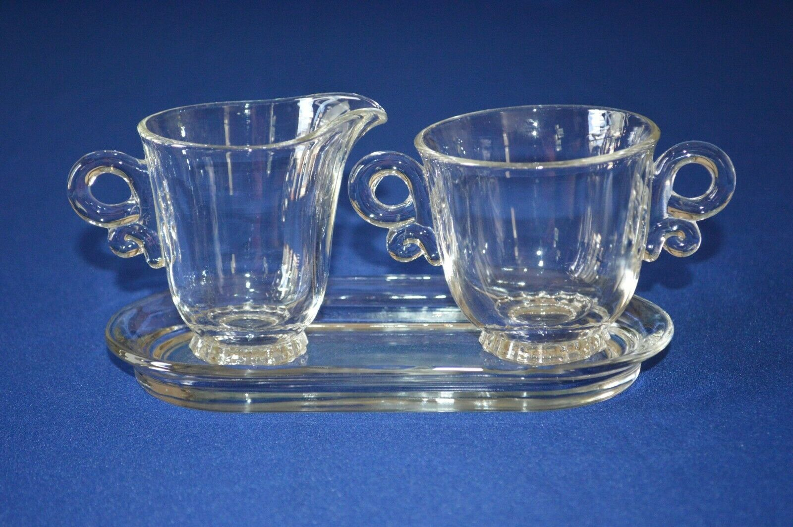 Primary image for Heisey Glass Lariat Clear Creamer & Sugar