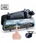 "Mirror Dash Cam Backup Camera, 1080P HD 9.66"" Streaming Media Full Touch... - $117.90"
