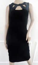 Eliza J Velvet Cutout Cocktail Party Sheath Dress Sleeveless Sz 12 Black $148 - $62.32