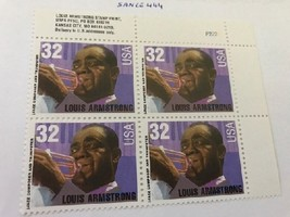 United States Louis Armstrong block mnh 1995     stamps  - $3.00