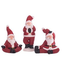 Mark Feldstein Yoga Santa Rosy Red 6 x 3 Terra Cotta Christmas Holiday F... - $42.61