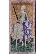 Cary Yale Visconti Tarot Wall Decor Poster Print FEMALE KNIGHT OF SWORDS... - $12.38