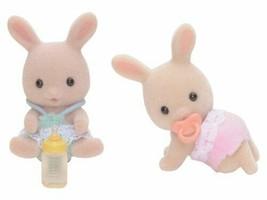 Sylvanian Families Doll Milk Rabbits Twins U-87 - $12.26
