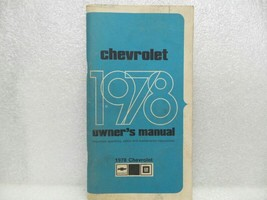 1978 Chevrolet Chevy Owners Manual 16074 - $16.82