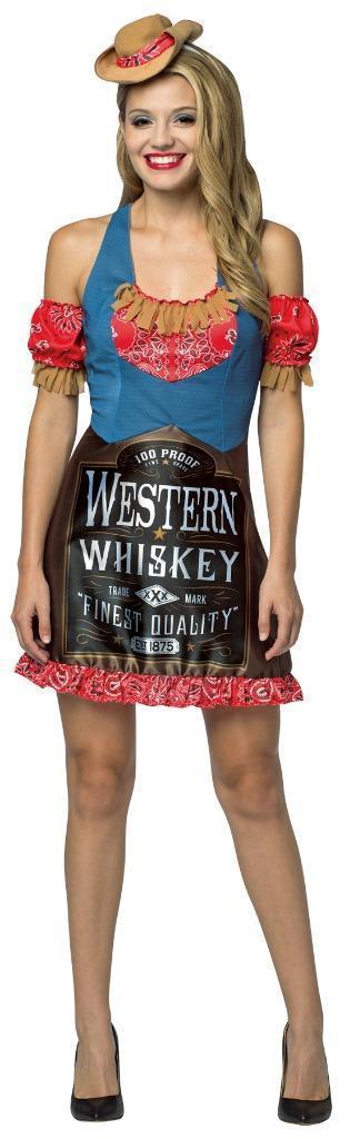 Whiskey Womens Dress Costume Adult Alcohol Halloween Party Unique GC7595