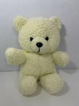 MTY International plush sherpa fuzzy cream off white teddy bear - $19.79