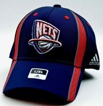 New Jersey Nets Adidas NBA Basketball Swingman Stretch Fit Cap Hat SM/ME... - $20.95