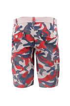 Men's Multi Pocket Cotton Camo Army Cargo Shorts With Knitted Double Ring Belt image 3