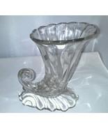 Warwick Clear Cornucopia Heisey 7 Inch Elegant Depression Glass Vase 1A - $14.99