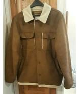 Men's Old Navy Brown Faux Suede Winter Coat Jacket w/Sherpa lining - $25.00