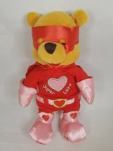 "Disney Store POOH Super Lover Love Valentine Plush Stuffed Bear 8"" - $19.99"