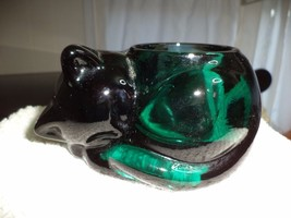 Indiana Green Sleeping Cat Candle Holder - $9.99