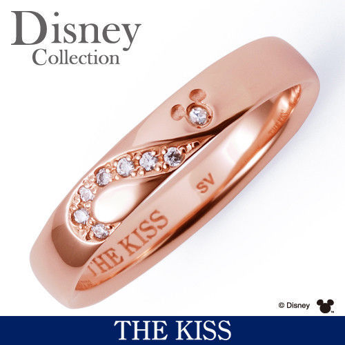 Disney × THE KISS Mickey Mouse Diamond Sterling Silver 925 Ring 4 5 6 7 Women FS