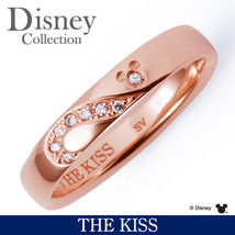Disney × THE KISS Mickey Mouse Diamond Sterling Silver 925 Ring 4 5 6 7 ... - $227.00