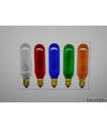 Tubular Light Bulb with Candelabra Base 15 Watt Clear, Red, Blue, Green ... - $4.50