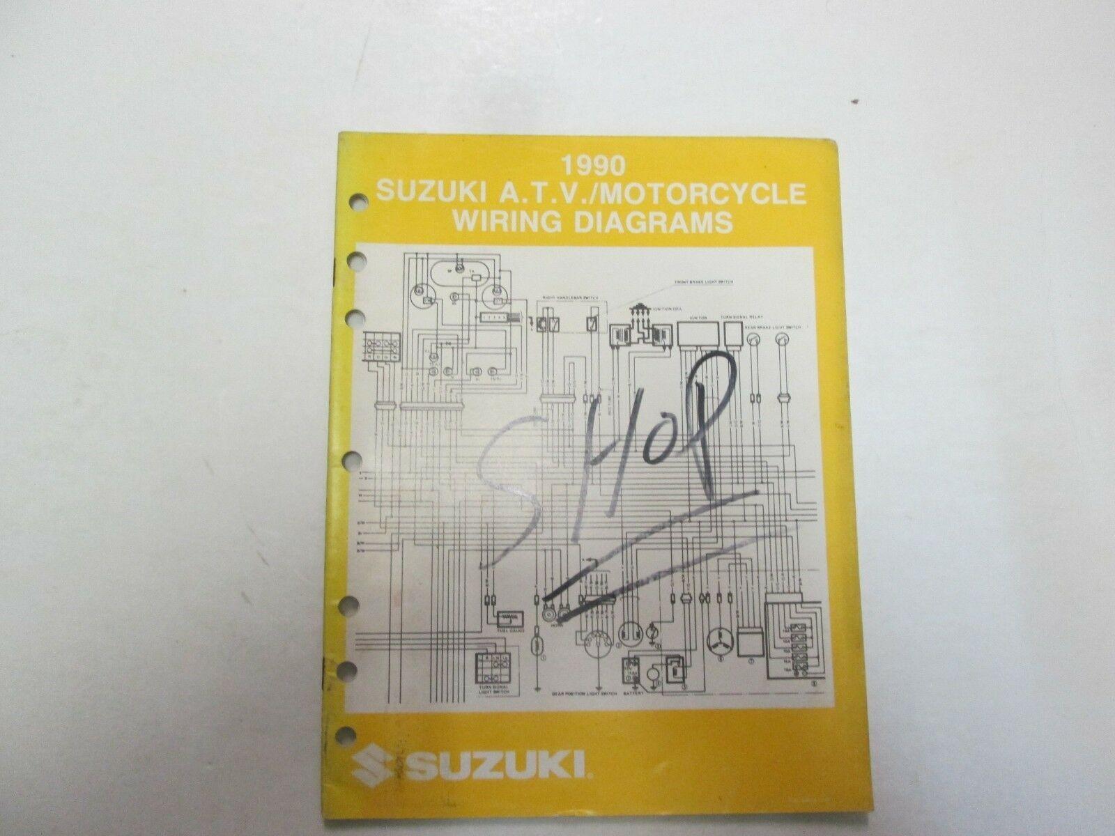 1990 Suzuki A.T.V. Motorcycle L Models Wiring Diagram Manual Factory OEM ***