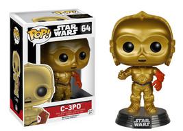 Star Wars The Force Awakens C-3PO Vinyl Pop Figure Toy #64 Funko New Nib - $8.79
