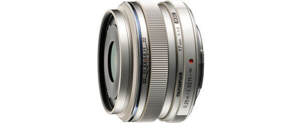 Olympus M.Zuiko 17mm F/1.8 AF Lens for Four Thirds Wide Angle Fixed, Silver - $499.99