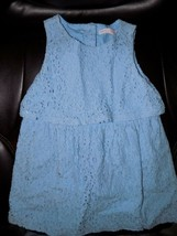 JANIE AND JACK Blue Eyelet Flower Dress Size 24 Months Girl's EUC - $20.54