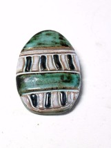 Very Unique Stone Easter Egg Shape Vintage Pin - $14.09