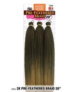 "Model Model 3X Pre-Feathered Braid 20"" Hair Braiding Extension 100% Kane... - $7.99"